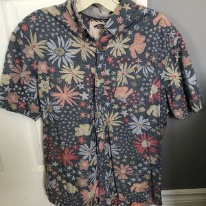 VANS Floral Button Up (Men's M)